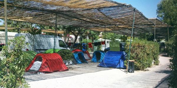 Camping Costa Blanca zona acampada