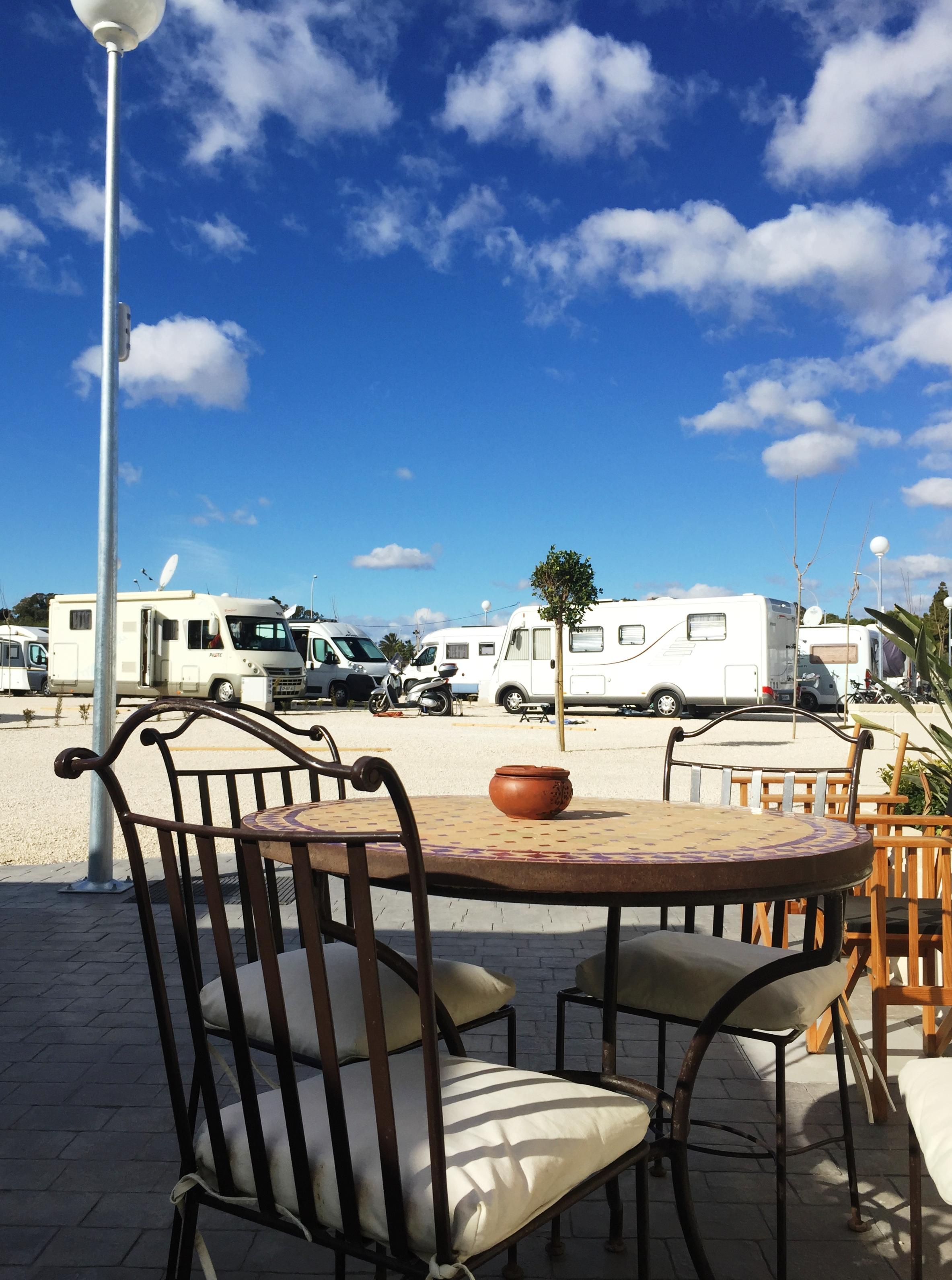 Zona relax Camper Area Campello Beach